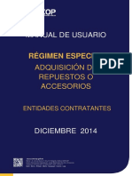 Regimen Especial Adquisicion de Repuestos o Accesorios Entidades Contratantes (1)