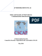 CSCAP Memorandum No.24 - Safety and Security of Vital Undersea