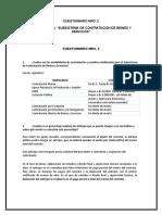Cuestionario Nro. 2 Licitaciones