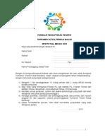 Formulir Pendaftaran Futsal Remaja Masjid
