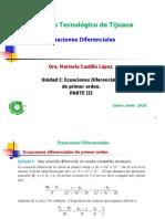 Unid i Ecuaciones Diferenciales Parte III 2016