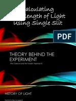 Single Slit Diffraction Experiment