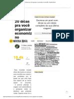 20 Dicas Pra Você Organizar e Economizar No Mochilão - Mochila Brasil
