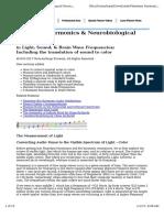 Planetary Harmonics and Neurobiological Resonances