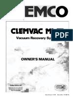 Clemco Clemvak III Owners Manual