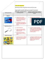 task 4  scientific resources in the classroom