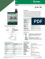 Littelfuse ProtectionRelays SE 601 Datasheet