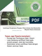 1. Pengantar Sertifikasi Halal Dan SJH_2017 Rev.0