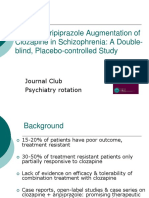 Effect of Aripiprazole Augmentation of Clozapine in Schizophrenia