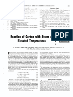 Carbon-Steam reaction at elevated temperature