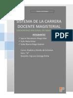 Sistema de Carrera Docente Magisterial 1era Entrega -UNI-FIIS