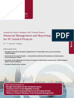 Financial Management and Reporting Obligations for EU Funded Projects S-1605-DMW