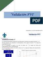 Validación PVT