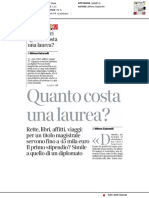 Quanto costa una laurea? - Il Corriere della Sera del 21 marzo 2018