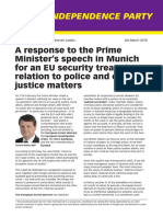 A Response to the PM's Munich Speech March 2013