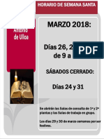 2018 Horario del CRAI Antonio de Ulloa durante Semana Santa y Feria de Abril