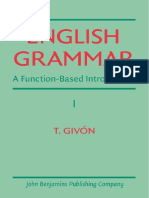 English Grammar a Function Based Introduction Volume I
