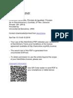 NAVARRETTA - Principio de Igualdad, Principio de No Discriminación y Contrato