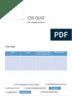 CSS QUIZ COC 3