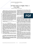 Analysis of Lead Time Delays in Supply Chain a Case Study
