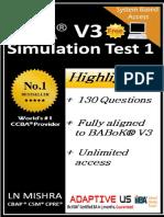 Free CCBA Simulation Questions Set 01