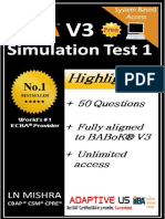 Free ECBA  Simulation Question Set 01