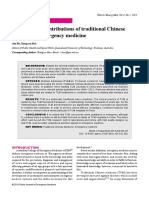 The Potential Contributions of Traditional Chinese Medicine to Emergency Medicine
