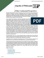 Internet Encyclopedia of Philosophy » Philosophy of Film
