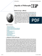 Internet Encyclopedia of Philosophy » Maimon, SolomonInternet Encyclopedia of Philosophy » Print