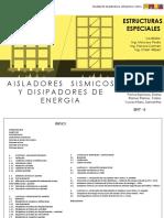 Tabajo de Investigación - Aisladores Sismicos y Disipadores de Energia - Grupo 11