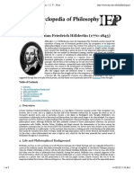 Internet Encyclopedia of Philosophy » Holderlin, J. C. F. » Print