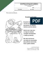 Ficha de Aval. Sum. de Português-2º Ano -1º Período.