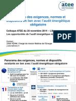 Ae1 - Atee Panorama Reglementaire - j.adam - Atee Audit 2014-11-20