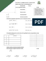 DÉCIMO examen supletorio de matemáticas