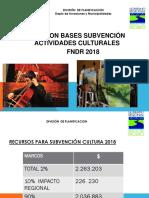 Presentacion Subvencion Cultura Fndr 2018
