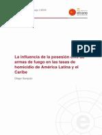 Influencia de la Posesión Civil de Armas de Fuego en las tasas de homicidio de América Latina y el Caribe
