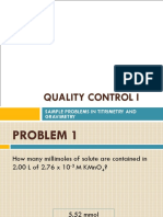 Sample Problems in Quality Control 1