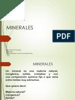 Introducción a Los Minerales Ppt