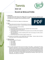 Table Tennis League Rules and Regulations 2013 14