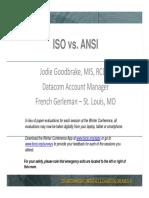 ISO vs ANSI