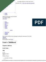 Ivan's Childhood - Movie Info_ Cast, Reviews, Trailer on Mubi.com