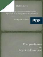 Principios y Métodos Computacionales Aplicados Al Análisi y Diseño de Estructuras