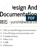 API Design and Documentation
