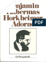 Benjamin, Habermas, Horkheimer e Adorno