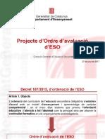 Projecte Ordre Avaluacio ESO