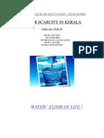 Water Scarcity in Kerala