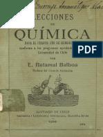 Libro Viejo de Quimica