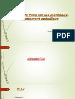 Action de l'Eau Sur Les Matériaux-Traitement Spécifique Réctifié