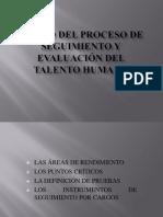 Evidencia 2.Diseño Del Proceso de Seguimiento y Evaluación Del Talento Humano