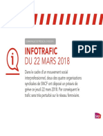 communiqué de presse de la SNCF - trafic du 22.03.18